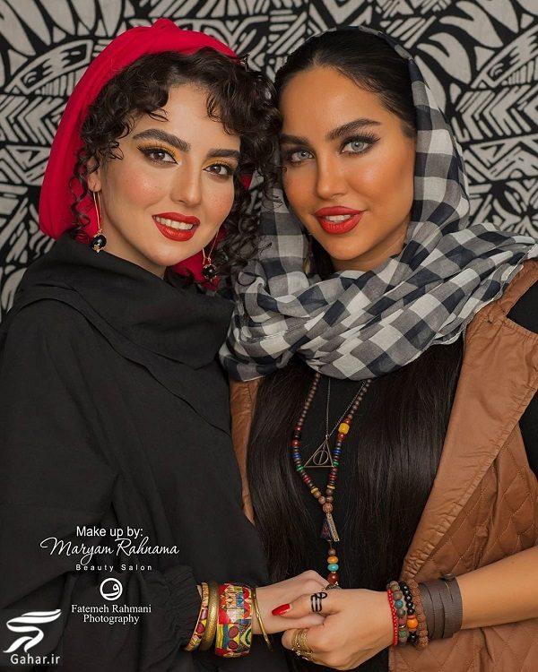 669636 Gahar ir تصاویری از میکاپ متفاوت سارا محمدی خواهر نرگس محمدی