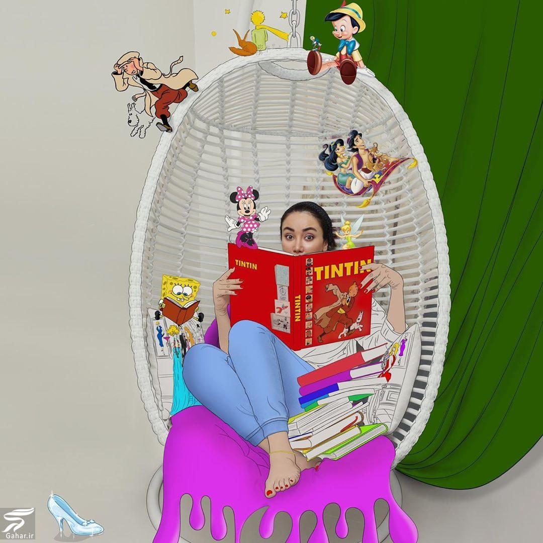 118350 Gahar ir عکس های جالب و دیدنی از تیپ کارتونی بهاره افشاری
