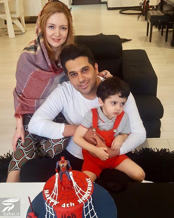 عکس خانوادگی حمید عسکری به مناسبت تولد پسرش, جدید 1400 -گهر