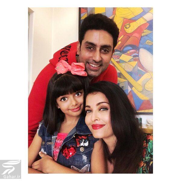 417306 Gahar ir عکسهای جدید آیشواریا رای به همراه دختر و همسرش