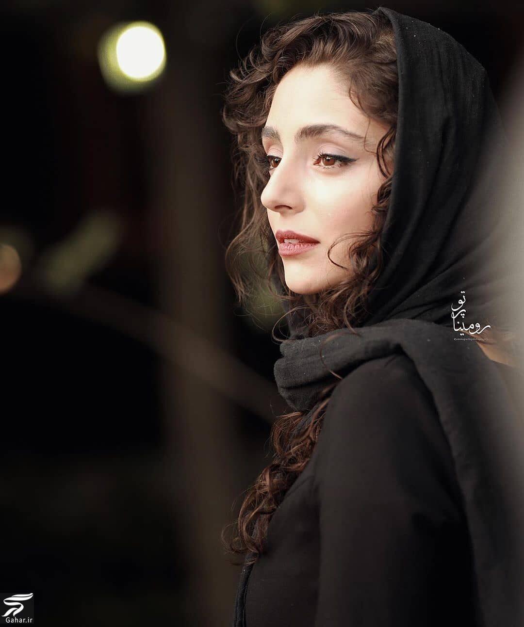 عکس های بازیگران زن در نمایشگاه عکس فیلم درخت گردو با تیپ های متفاوت, جدید 1400 -گهر