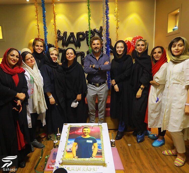 عکس جشن تولد ۵۰ سالگی امین حیایی در کنار بازیگران, جدید 1400 -گهر
