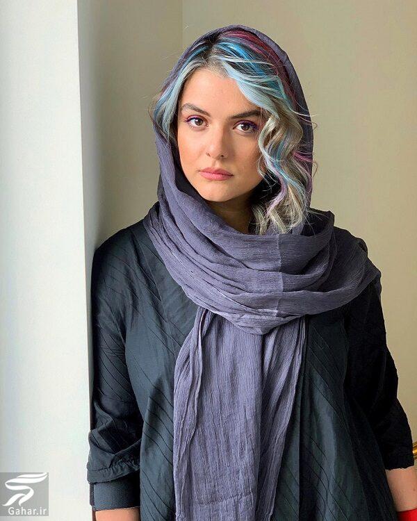 عکس دنیا مدنی با موی رنگین کمانی!, جدید 99 -گهر