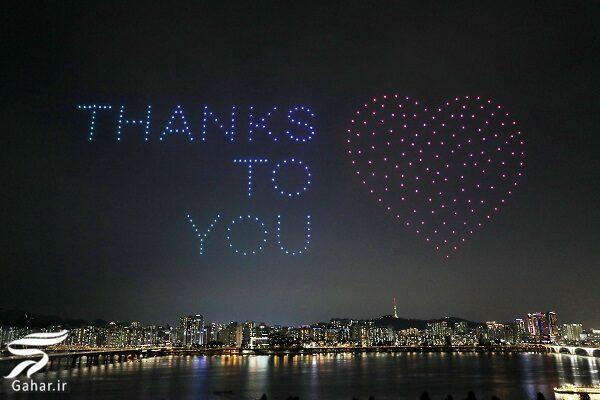 تصاویر جالب از صدها پهباد برای مقابله با ویروس کرونا در آسمان سئول, جدید 99 -گهر