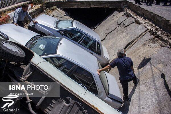 883026 Gahar ir نشست زمین در تبریز خودروها را فرو برد / تصاویر