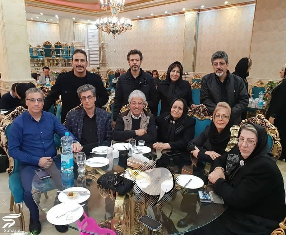 885562 Gahar ir عکس خانوادگی علیرضا خمسه در کنار چهار خواهر و پنج برادرش