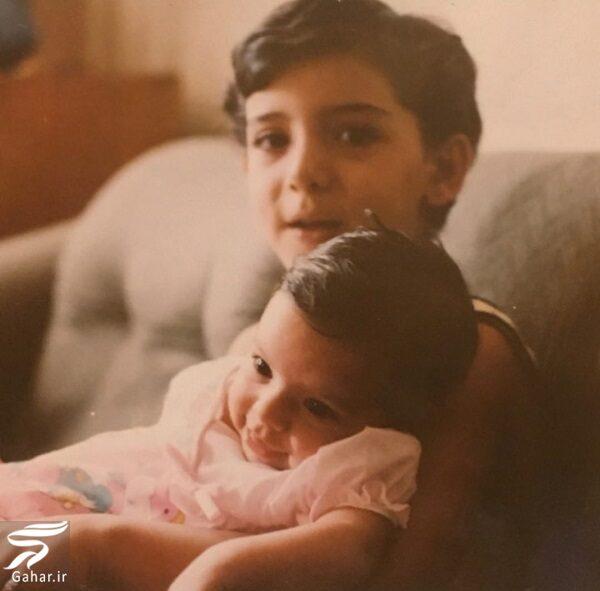 عکسی از کودکی دنیا مدنی و خواهرش, جدید 99 -گهر