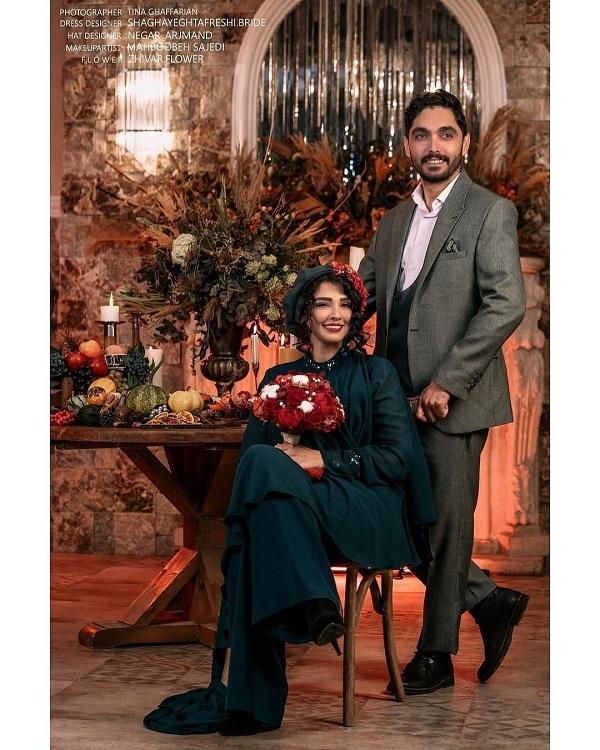استایل یلدایی سیما خضرآبادی و همسرش / تصاویر · جدید ۹۹ -گهر