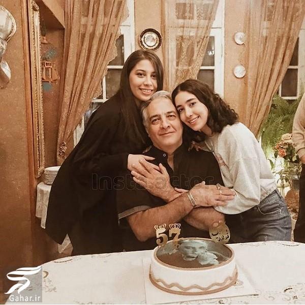 عکس تولد ۵۷ سالگی ایرج نوذری در کنار دخترانش, جدید 1400 -گهر