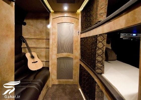 تصاویر دیدنی از اتوبوس لوکس جاستین بیبر, جدید 1400 -گهر