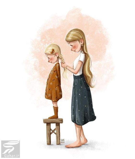متن مادر دختری  (عکس مادر دختری بدون متن), جدید 1400 -گهر