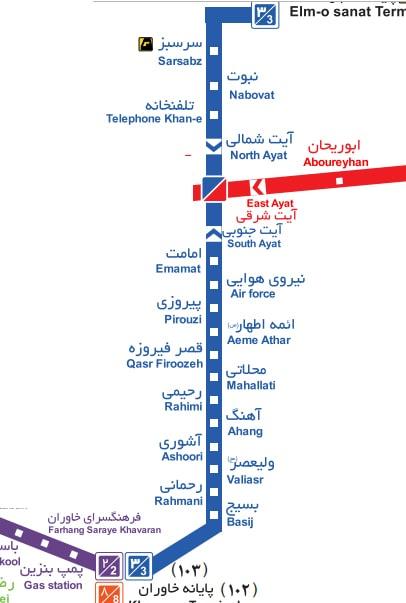 نقشه خطوط اتوبوس های BRT + مسیر اتوبوس های بی آر تی تهران ۱۴۰۰, جدید 1400 -گهر