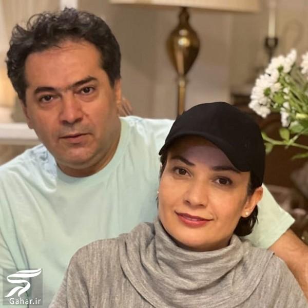 عکس جدید نسرین نصرتی و همسرش, جدید 1400 -گهر