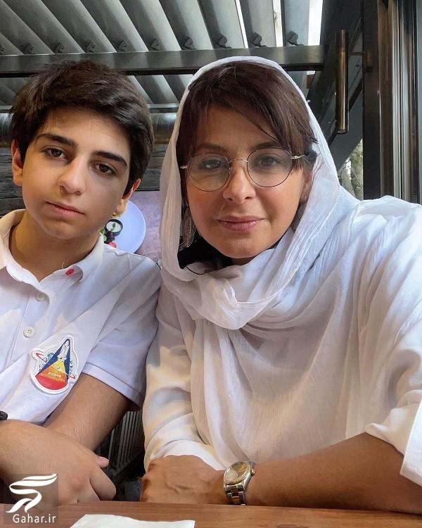 عکس جدید از سیما تیرانداز و پسرش, جدید 1400 -گهر