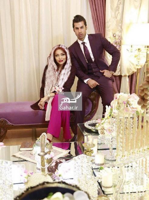 عکس مراسم عقد محسن فروزان و همسرش نسیم نهالی, جدید 1400 -گهر