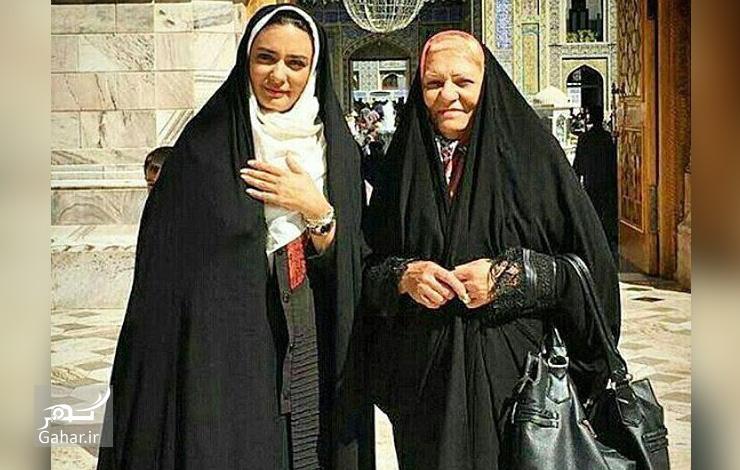 عکس جدید لیندا کیانی و مادرش در حرم امام رضا (ع), جدید 99 -گهر