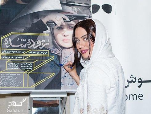 نیکی کریمی و مارال فرجاد در اکران فیلم ربوده شده در پردیس کوروش, جدید 1400 -گهر