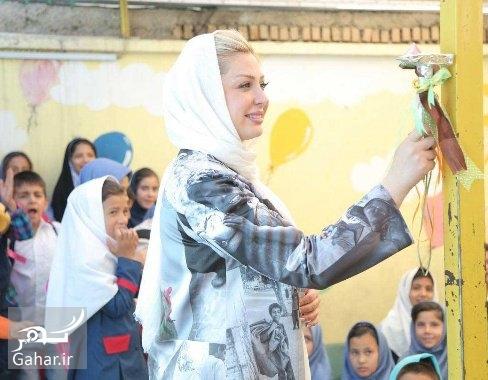 عکسهای نیوشا ضیغمی در روز بازگشایی مدارس با مانتوی متفاوت, جدید 1400 -گهر