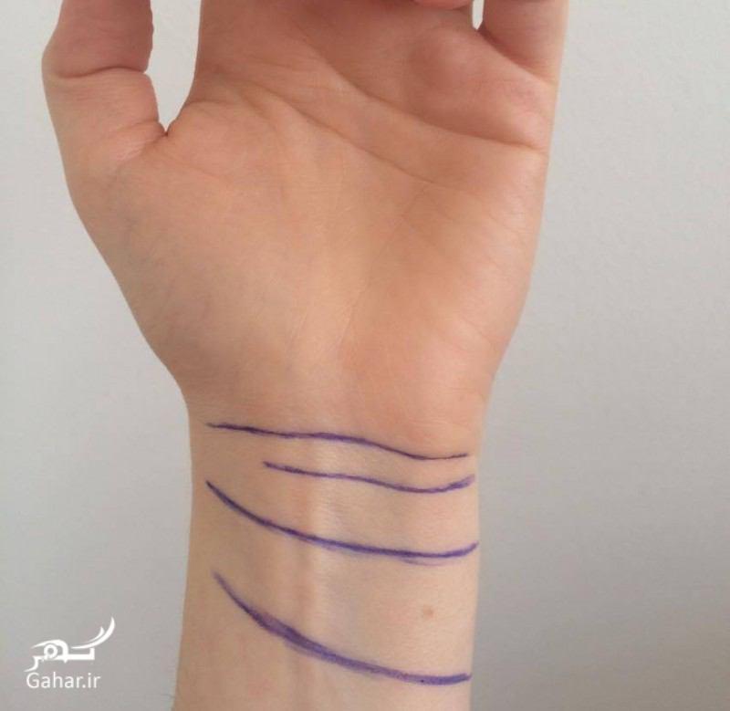 معنای جالب خطوط روی مچ دست, جدید 1400 -گهر
