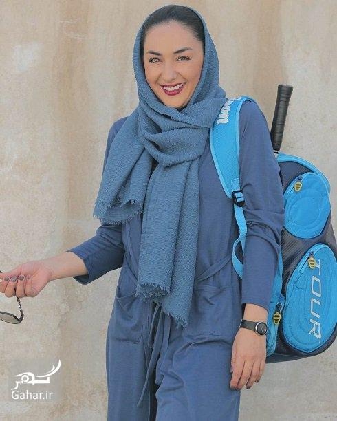 عکس های جدید هانیه توسلی با لباس اسکواش, جدید 1400 -گهر