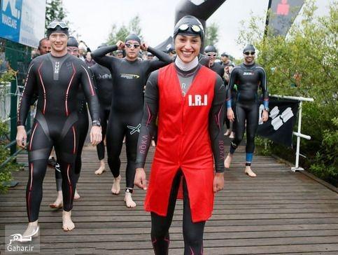 1476424199 حضور شیرین گرامی با حجاب کامل در مسابقه مردان آهنین جهان + عکس و بیوگرافی