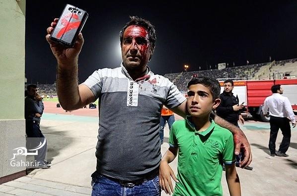 عکسهای درگیری خونین بین تماشاگران پرسپولیس و استقلال خوزستان, جدید 1400 -گهر