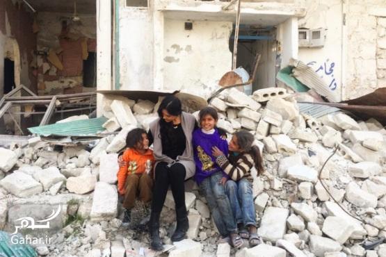 1483254162 بازیگر زن آمریکایی برای ساخت مستند به حلب سوریه رفته ؛ عکس
