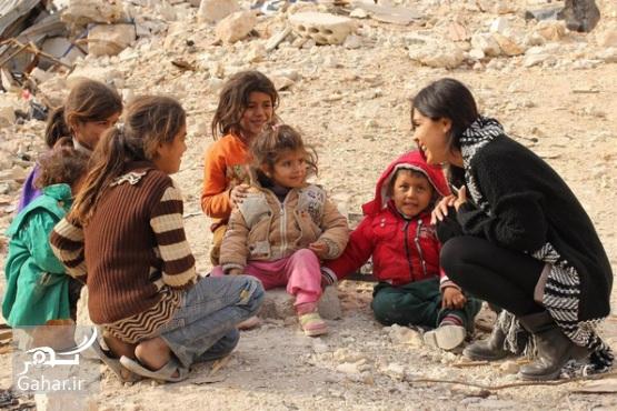 1483254527 بازیگر زن آمریکایی برای ساخت مستند به حلب سوریه رفته ؛ عکس