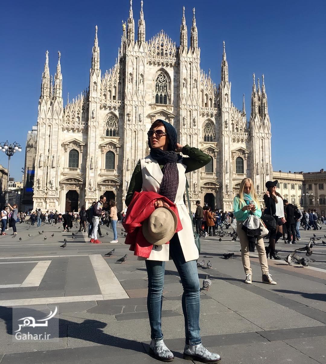 تفریح متفاوت لیلا بلوکات در ایتالیا + عکس, جدید 1400 -گهر