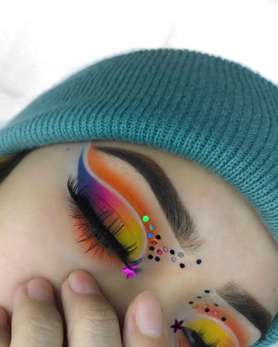 عکسهایی جالب از آرایش چشم هنری, جدید 99 -گهر